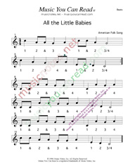 Click to enlarge: All the Little Babies Beats Format
