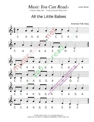 Click to Enlarge: All the Little Babies Letter Names Format
