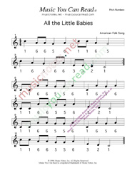 Click to Enlarge: All the Little Babies Pitch Number Format