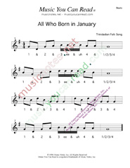 Click to enlarge: All Who Born in January Beats Format