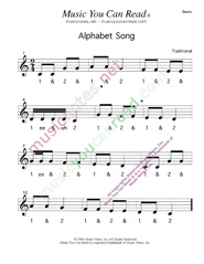 Click to enlarge: Alphabet Song  Beats Format