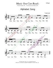 Click to Enlarge: Alphabet Song Solfeggio Format