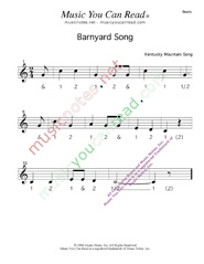 Click to enlarge: Barnyard Song  Beats Format
