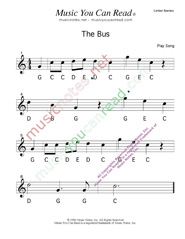 "Click to Enlarge: ""The Bus"" Letter Names Format"