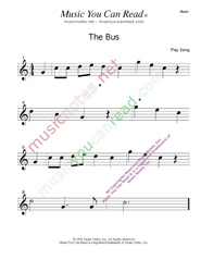 "Click to enlarge: ""The Bus""  Music Format"