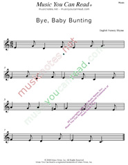 """Bye, Baby Bunting"" Text Format"