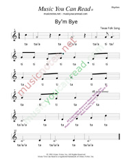 "Click to Enlarge: ""By'm Bye"" Rhythm Format"