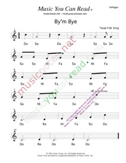 "Click to Enlarge: ""By'm Bye"" Solfeggio Format"