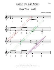 "Click to enlarge: ""Clap Your Hands"" Beats Format"