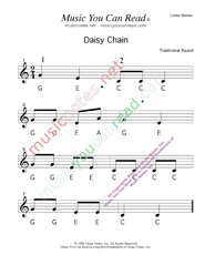 "Click to Enlarge: ""Daisy Chain"" Letter Names Format"