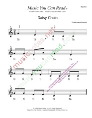 "Click to Enlarge: ""Daisy Chain"" Rhythm Format"