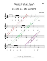 "Click to enlarge: ""Deedle, Deedle, Dumpling"" Beats Format"