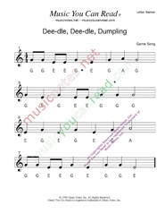 "Click to Enlarge: ""Deedle, Deedle, Dumpling"" Letter Names Format"