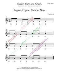 "Click to Enlarge: ""Engine, Engine, Number Nine"" Letter Names Format"