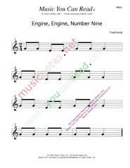 """Engine, Engine, Number Nine"" Text Format"