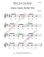 "Click to Enlarge: ""Engine, Engine, Number Nine"" Solfeggio Format"