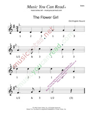 "Click to enlarge: ""The Flower Girl"" Beats Format"