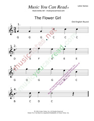 "Click to Enlarge: ""The Flower Girl"" Letter Names Format"