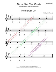 "Click to Enlarge: ""The Flower Girl"" Pitch Number Format"