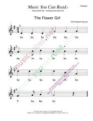 "Click to Enlarge: ""The Flower Girl"" Solfeggio Format"