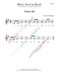 "Click to Enlarge: ""Follow Me"" Rhythm Format"