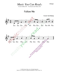 "Click to Enlarge: ""Follow Me"" Solfeggio Format"