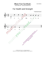 "Click to Enlarge: ""For Health and Strength"" Letter Names Format"