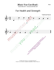 """For Health and Strength"" Music  Format"