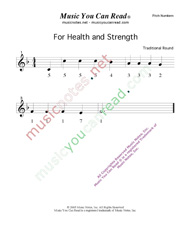 "Click to Enlarge: ""For Health and Strength"" Pitch Number Format"