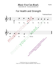 "Click to Enlarge: ""For Health and Strength"" Rhythm Format"