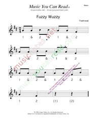 "Click to enlarge: ""Fuzzy Wuzzy"" Beats Format"