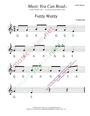 "Click to Enlarge: ""Fuzzy Wuzzy"" Letter Names Format"