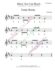 "Click to Enlarge: ""Fuzzy Wuzzy"" Pitch Number Format"