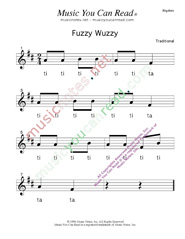 "Click to Enlarge: ""Fuzzy Wuzzy"" Rhythm Format"