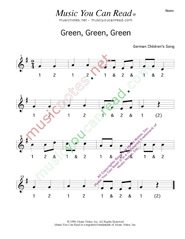 "Click to enlarge: ""Green, Green, Green"" Beats Format"