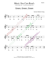 "Click to Enlarge: ""Green, Green, Green"" Rhythm Format"