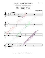 """The Happy River"" Music Format"