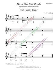 "Click to Enlarge: ""The Happy River"" Pitch Number Format"