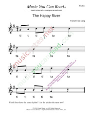 "Click to Enlarge: ""The Happy River"" Rhythm Format"" Rhythm Format"