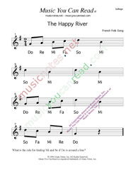 "Click to Enlarge: ""The Happy River"" Solfeggio Format"