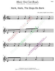 """Hark, Hark, The Dogs Do Barkr"" Music Format"