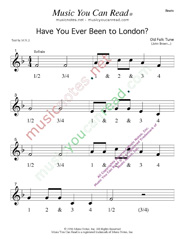 "Click to enlarge: ""Have You Ever Been to London"" Beats Format"
