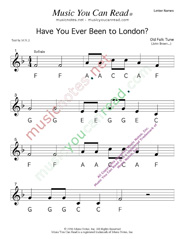 "Click to Enlarge: ""Have You Ever Been to London"" Letter Names Format"