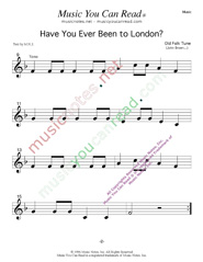 """Have You Ever Been to London"" Music Format Page 2"