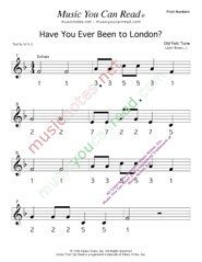 "Click to Enlarge: ""Have You Ever Been to London"" Pitch Number Format"" Pitch Number Format"