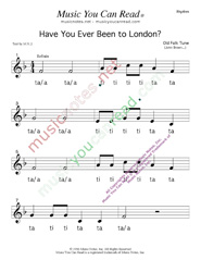 "Click to Enlarge: ""Have You Ever Been to London"" Rhythm Format"