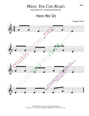 """Here We Sit"" Music Format"