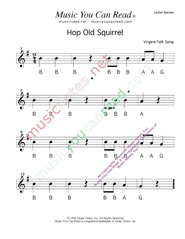 "Click to Enlarge: ""Hop Old Squirrel"" Letter Names Format"