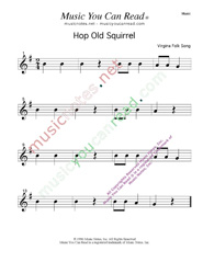 """Hop Old Squirrel"" Music Format"