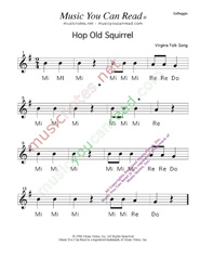 "Click to Enlarge: ""Hop Old Squirrel"" Solfeggio Format"